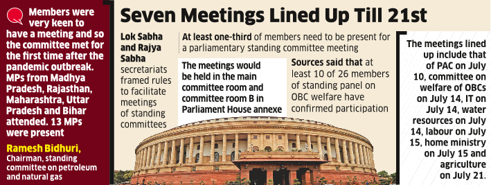 No Quarantine for MPs As Govt Paves Way for House Panel Meets