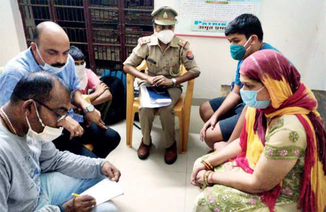 UP Police questions Richa, wife of Vikas Dubey, in Kanpur, on July 10
