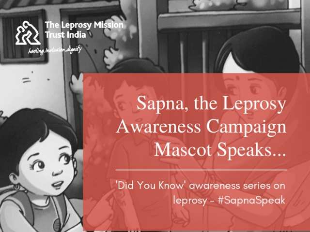 Sapna, the leprosy mascot clears common doubts about leprosy