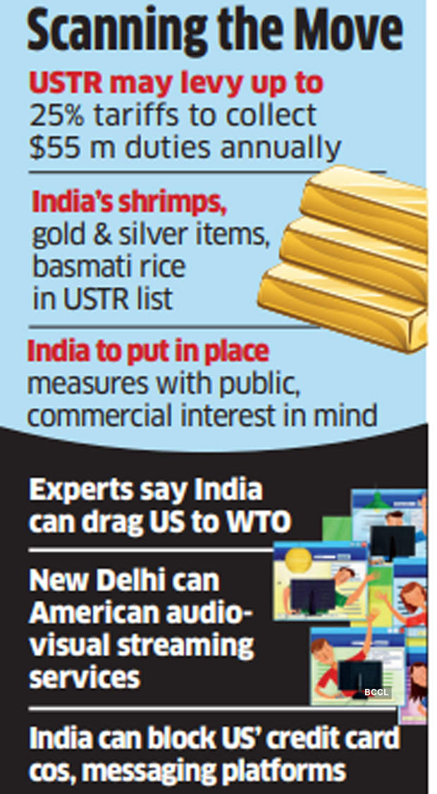 US INdia: Will study retaliatory tariffs proposed by US Trade Representative: Officials - The Economic Times