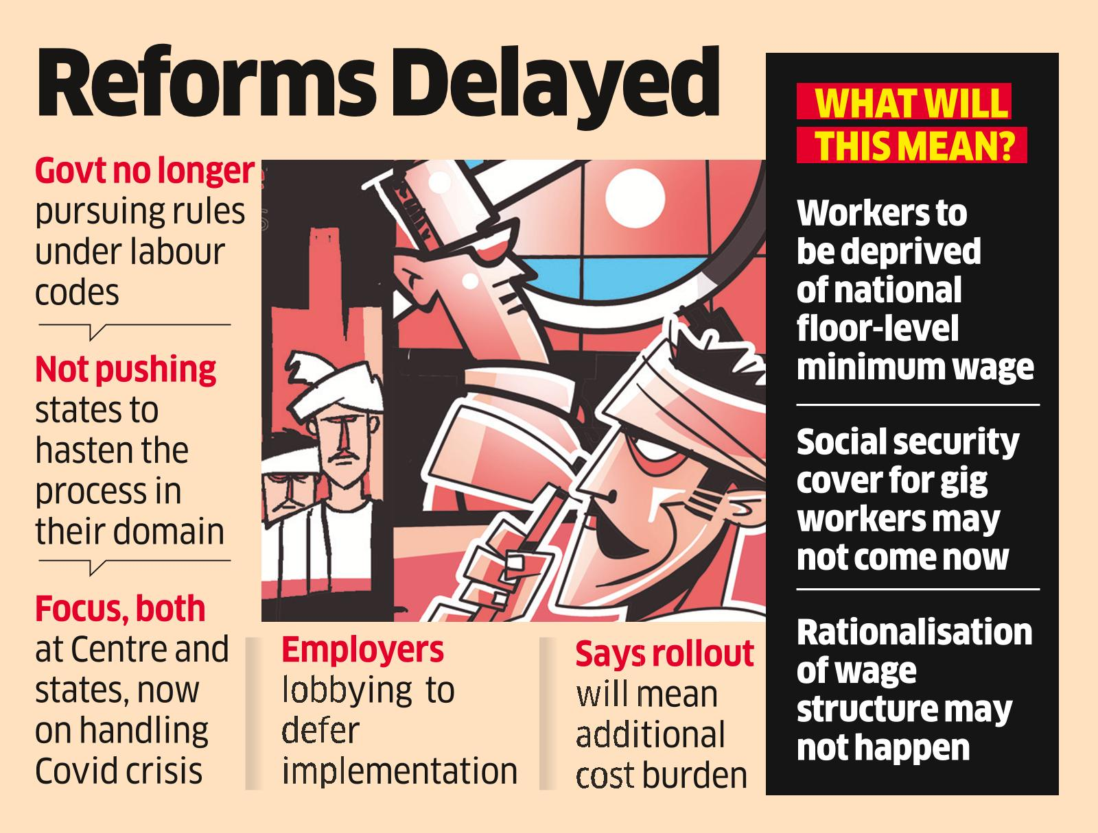 Implementation of Labour Codes may be Pushed to Next Year