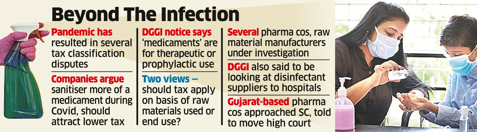 Tax Dept Doesn't Think Sanitiser Cos' A/Cs are Clean