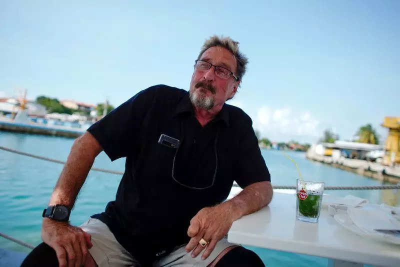 John McAfee speaks during interview in Havana