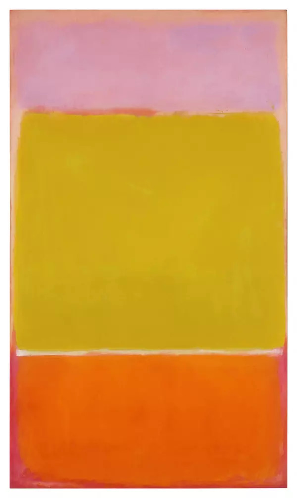 Mark Rothko's 'No. 7' from 1951, part of the Macklowe Collection. 