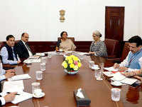 Delhi: FM Sitharaman holds meeting on simplifying GST filing process