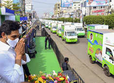 Andhra CM Jagan Reddy launches ration door delivery system, flags off 9260 Mobile Dispensing Units in Vijayawada