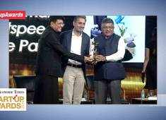 LightSpeed's Bejul Somaia lifts the 'Midas Touch' category at ET Startup Awards 2019