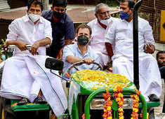 Anti-farm laws protest: Congress' Rahul Gandhi holds tractor rally in Kerala's Wayanad