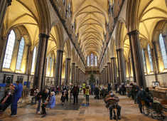 UK's Salisbury Cathedral is vaccine hub with heavenly music, soaring spires