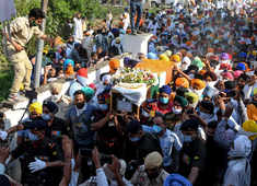 Teary farewell to men martyred at LAC
