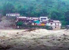 Houses washed away after cloudburst in Uttarakhand, heavy rains lash Himachal Pradesh