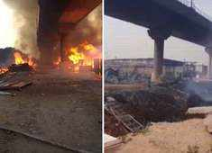 Massive fire breaks out near Kalindi Kunj metro station, Magenta line services temporarily suspended