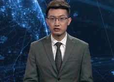And now for something completely different: Chinese robot news readers