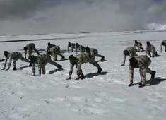 Watch: Indo-Tibetan Border Police personnel perform Yoga in northern Ladakh