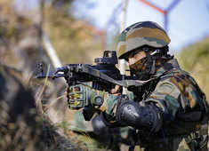 Indian troops carry out long-range patrols to maintain vigil along the LoC with Pakistan