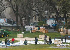 To fight Coronavirus, field hospital set up in New York's Central Park