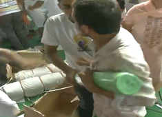 Watch: People loot mats after Yoga day event in Haryana's Rohtak