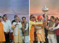 Watch: PM Modi attends Dussehra event at Ram Leela grounds in Dwarka