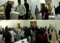 Watch: Ruckus breaks during BSP review meeting in Amravati