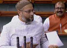 Owaisi replies 'Allahu Akbar' as MPs chant 'Jai Shri Ram' in Lok Sabha