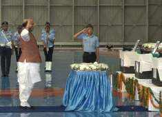 IAF An-32 crash: Rajnath Singh pays homage to 13 personnel
