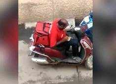 Zomato agent eating food meant for delivery, video goes viral