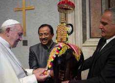 Watch: MoS V Muraleedharan meets Pope Francis in Vatican City