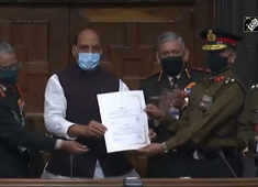 Rajnath Singh presents 'Best Marching Contingent' of Republic Day parade 2021