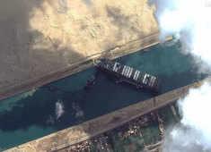 Giant ship that blocked Suez is still stuck in Egypt