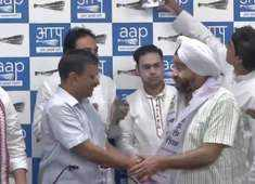 Congress leader Parlad Singh Sawhney joins AAP in Delhi