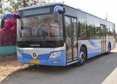 Delhi launches e-bus trial run for pollution-free transport