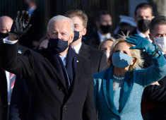 Dystopian vibes from Joe Biden's extraordinary day