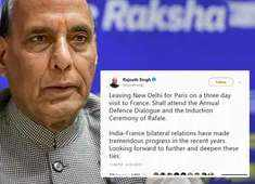Looking forward to deepen ties with France: Rajnath Singh