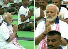 Watch: PM Modi performs yoga at Prabhat Tara ground in Ranchi