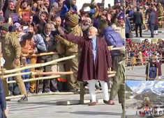 Watch: PM Modi waves at devotees at Kedarnath Temple