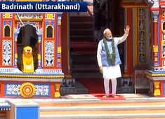 Watch: PM Modi leaves from Uttarakhand's Badrinath