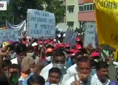 Bengaluru: Over 10,000 teachers gathered against the government's order on reduction of school fees