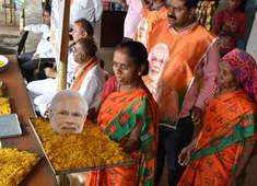 BJP set to retain power as its candidates lead in most LS constituencies