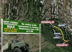 No civilian traffic from Baramulla to Udhampur highway for 2 days in week till May 31 to avert terror attacks