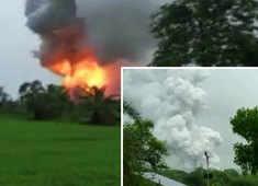 Maharashtra: Massive fire at firecracker manufacturing unit in Dahanu following huge explosion