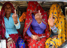 Women voters turn out in greater numbers than in previous elections