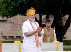 Independence Day: PM Modi pays tribute to Mahatma Gandhi at Rajghat
