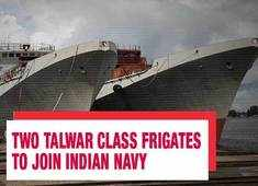 Watch: Two Talwar class frigates getting ready in Russia to join Indian Navy