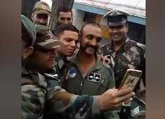 Watch: Wing Commander Abhinandan getting clicked with fellow colleagues