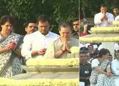 Gandhi family pays tribute to Rajiv Gandhi on death anniversary