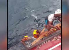 Watch: Indian Coast Guard rescues 6 Sri Lankan fishermen from rough seas