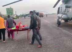 J&K: Indian Air Force's M-17 helicopter comes to rescue of Rajouri road accident victims