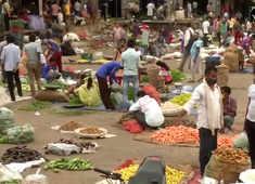 Delhi: Vegetable vendors at Keshopur Sabzi Mandi urge people to wear masks