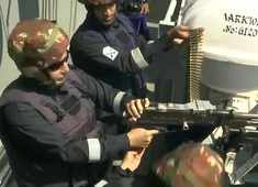 Watch: Rajnath Singh fires medium machine gun onboard INS Vikramaditya