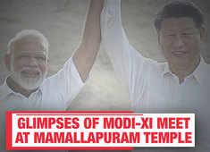 Modi-Xi informal summit: Glimpses of initial meet at Mamallapuram temple